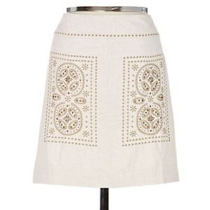 Anthro's Floreat first rays beaded skirt